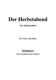 Der Herbstabend, D.405: C sharp minor by Franz Schubert
