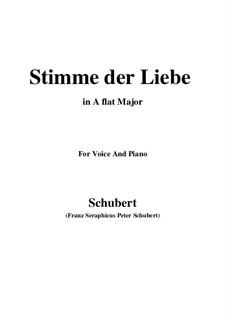 Stimme der Liebe, D.418: A flat Major by Franz Schubert