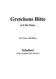 Gretchens Bitte: E flat Major by Franz Schubert