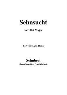 Sehnsucht, D.52: D flat Major by Franz Schubert