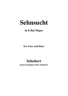 Sehnsucht, D.52: E flat Major by Franz Schubert