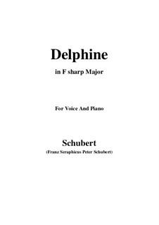 Zwei Szenen aus 'Lacrimas' von Schütz, D.857 Op.124: No.2 Delphine, for voice and piano (F sharp Major) by Franz Schubert