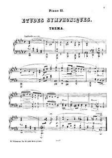 Sinfonische Etüden, Op.13: Für zwei Klaviere, vierhändig – Klavierstimme II by Robert Schumann