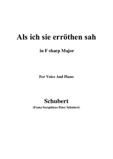 Als ich sie erröthen sah, D.153: F sharp Major by Franz Schubert