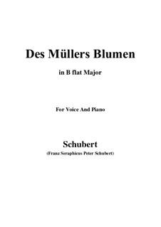 No.9 Des Müllers Blumen: Für Stimme und Klavier (B Flat Major) by Franz Schubert