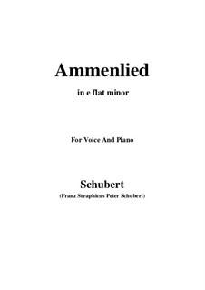 Ammenlied, D.122: E flat minor by Franz Schubert