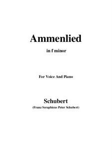Ammenlied, D.122: F minor by Franz Schubert