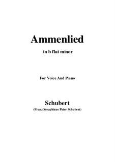 Ammenlied, D.122: B flat minor by Franz Schubert