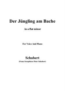 Der Jüngling am Bache, D.192: For voice and piano (a flat minor) by Franz Schubert