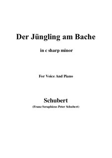 Der Jüngling am Bache, D.192: For voice and piano (c sharp minor) by Franz Schubert