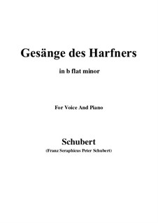 An die Türen (I will creep up to the doors): For voice and piano (b flat minor) by Franz Schubert
