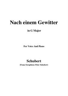 Nach einem Gewitter, D.561: G Major by Franz Schubert