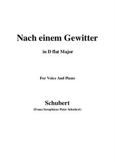 Nach einem Gewitter, D.561: D flat Major by Franz Schubert