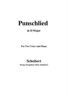 Punschlied (Im Norden zu Singen), D.253: D Major by Franz Schubert