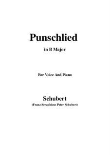 Punschlied (Im Norden zu Singen), D.253: B Major by Franz Schubert