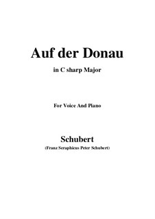 Auf der Donau, D.553 Op.21 No.1: C sharp Major by Franz Schubert