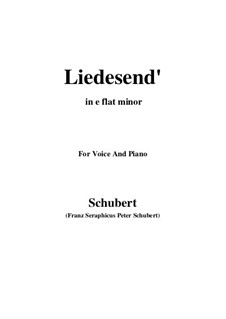 Liedesend, D.473: E flat minor by Franz Schubert