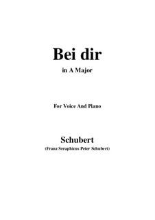 Vier Refrain-Lieder, D.866 Op.95: No.2 Bei dir allein (A Major) by Franz Schubert