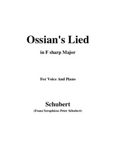 Ossians Lied nach dem Falle Nathos', D.278: F sharp Major by Franz Schubert