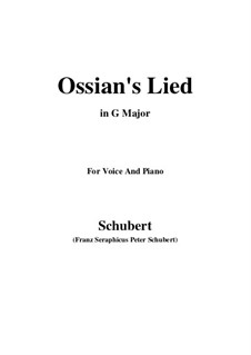 Ossians Lied nach dem Falle Nathos', D.278: G Major by Franz Schubert