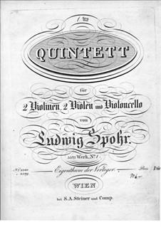 Zwei Streichquintette, Op.33: Quintett Nr.1 – Violinstimme I by Louis Spohr