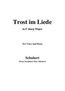 Trost im Liede, D.546: F sharp Major by Franz Schubert