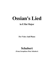Ossians Lied nach dem Falle Nathos', D.278: E flat Major by Franz Schubert