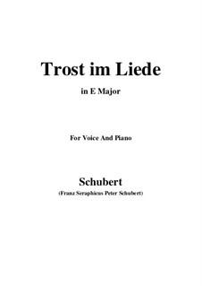 Trost im Liede, D.546: E Major by Franz Schubert
