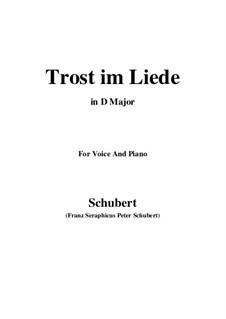 Trost im Liede, D.546: D Major by Franz Schubert
