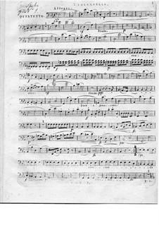 Zwei Streichquintette, Op.33: Quintett Nr.1 – Cellostimme by Louis Spohr
