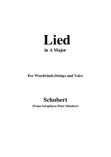 Lied, for Woodwinds, Strings and Voice: A-Dur by Franz Schubert