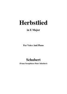 Herbstlied, D.502: E Major by Franz Schubert