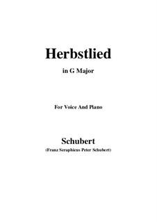 Herbstlied, D.502: G Major by Franz Schubert