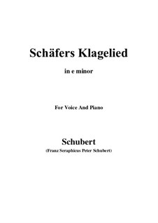 Schäfers Klagelied, D.121 Op.3 No.1: For voice and piano (e minor) by Franz Schubert