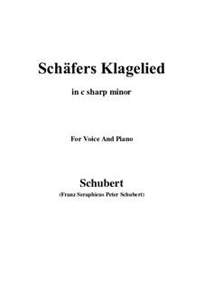 Schäfers Klagelied, D.121 Op.3 No.1: For voice and piano (c sharp minor) by Franz Schubert