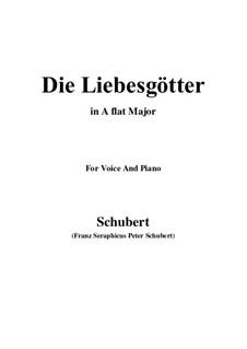 Die Liebesgötter, D.446: A flat Major by Franz Schubert