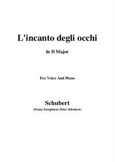 Drei Lieder, D.902 Op.83: No.3 L'incanto degli occhi (D Major) by Franz Schubert