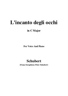 Drei Lieder, D.902 Op.83: No.3 L'incanto degli occhi (C Major) by Franz Schubert