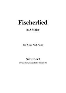 Fischerlied, D.562: A-Dur by Franz Schubert