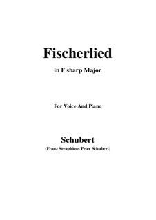 Fischerlied, D.562: F sharp Major by Franz Schubert
