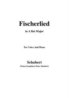Fischerlied, D.562: A flat Major by Franz Schubert