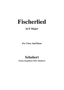 Fischerlied, D.351: E Major by Franz Schubert