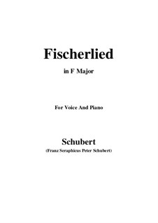 Fischerlied, D.351: F-Dur by Franz Schubert