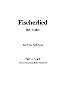 Fischerlied, D.351: G Major by Franz Schubert