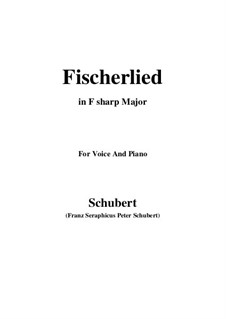 Fischerlied, D.351: F sharp Major by Franz Schubert