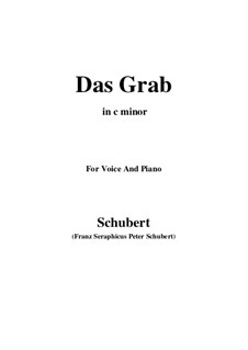 Das Grab, D.330: C minor by Franz Schubert