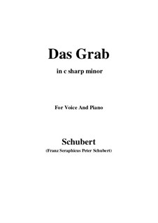 Das Grab, D.330: C sharp minor by Franz Schubert