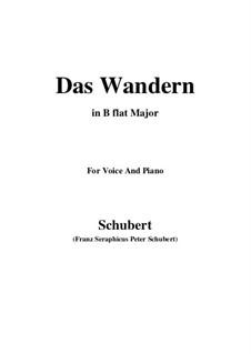 Nr.1 Das Wandern: Für Stimme und Klavier (B Flat Major) by Franz Schubert