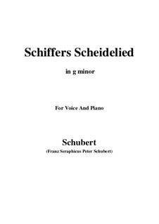 Schiffers Scheidelied, D.910: Für Stimme und Klavier (G minor) by Franz Schubert