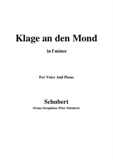 Klage an den Mond: F minor by Franz Schubert
